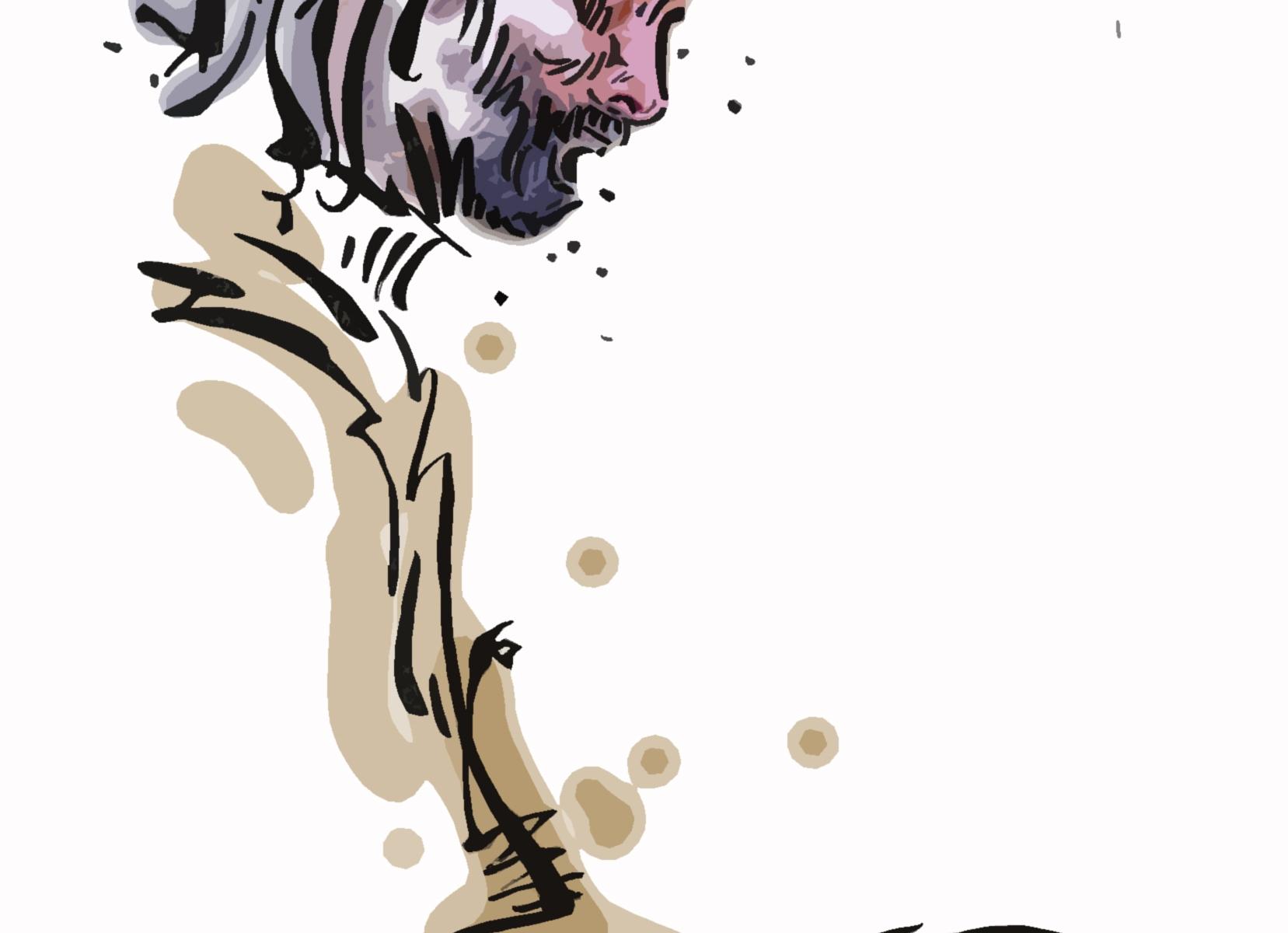 Juan María Solare - dibujo por Alban Low